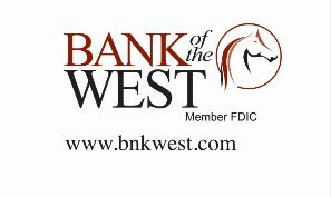 Bank of the West Logo with FDIC and Website