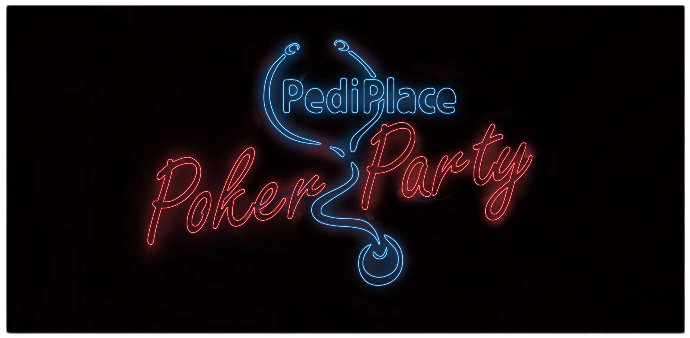 pediplace poker party neon rounded